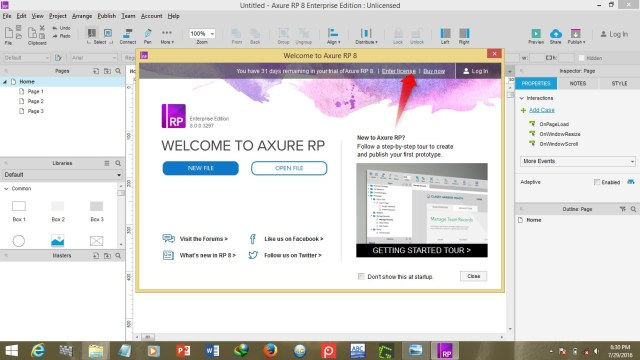 Axure RP Pro Team Enterprise 9.0.0.3716 + License Key Free Download