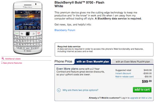 Blackberry Bold 9700 White Screen