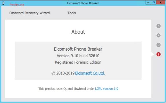 Elcomsoft Phone Breaker 8 crack