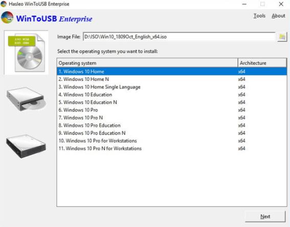 WinToUSB Enterprise 5.6 Crack key