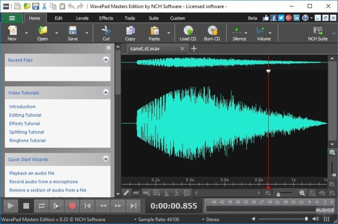 WavePad Sound Editor 11.33 Crack Full Version