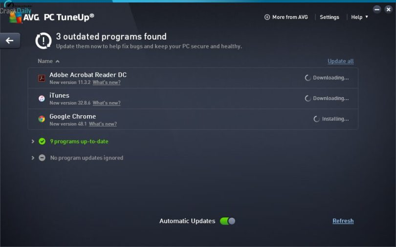 AVG PC TuneUp Screenshot 1