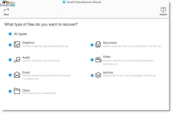 EaseUS Data Recovery Screenshot 2