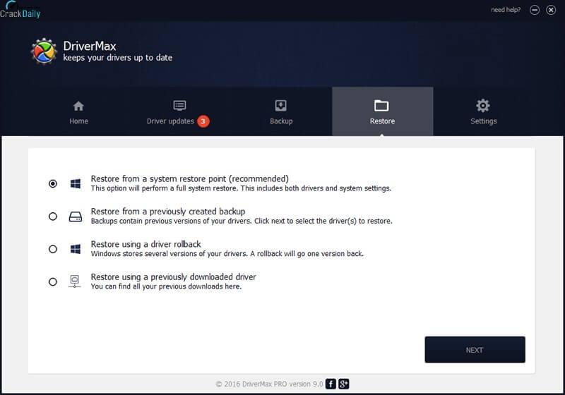 DriverMax Pro Screenshot