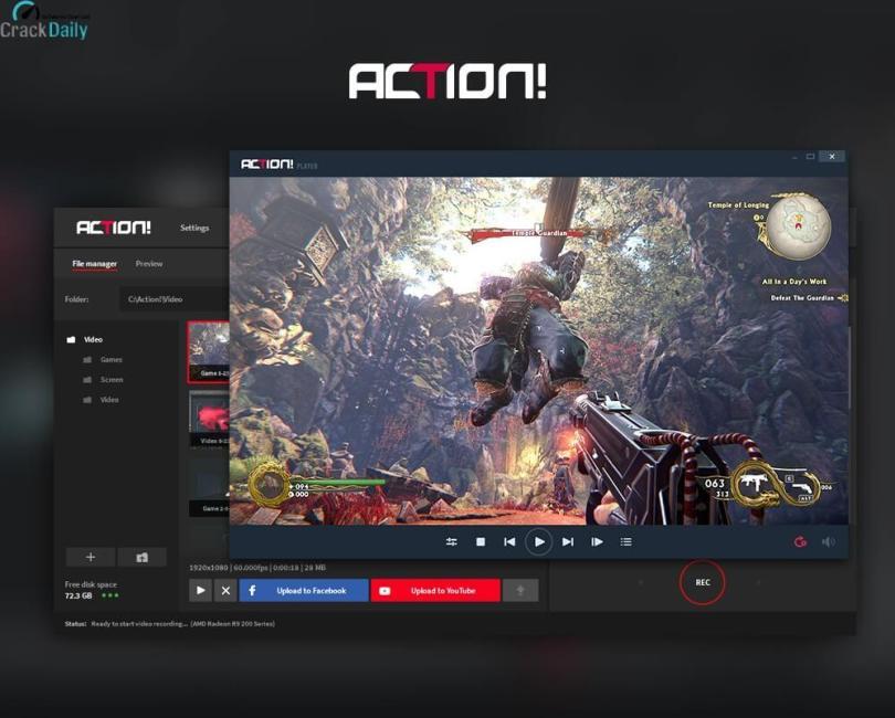 Mirillis Action Screenshot