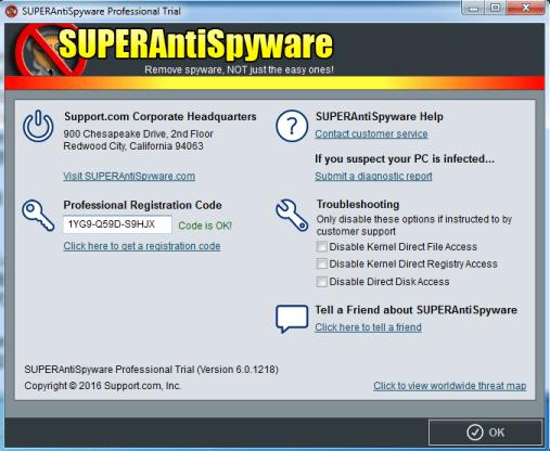 superantispyware keys 2017