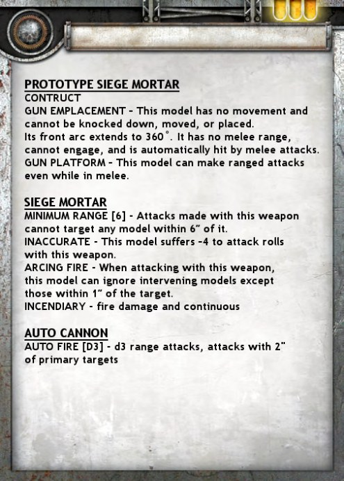 Prototype Siege Mortar Card Back