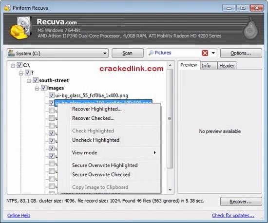Recuva Pro 1.53.1087 Crack Plus License Key 2020 Latest Free Download