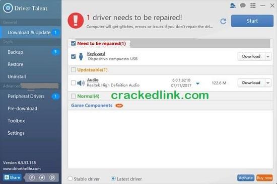 Driver Talent Pro 8.0.0 Crack Plus Activation Code Latest Free Download