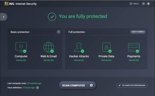 AVG Internet Security 2021 21.3.3174 Crack With Keygen [Download]