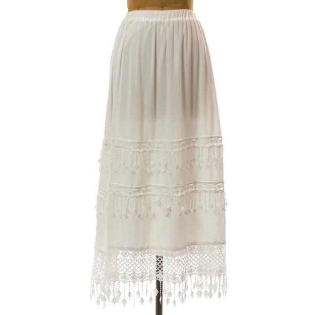 Dangle Fringe Skirt