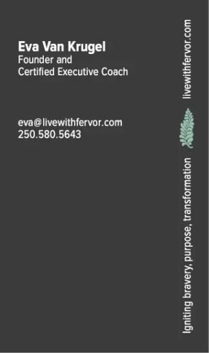 Business card for Fervor