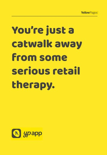 Shopping ad for Yellow Pages