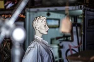 Mannequin in warehouse