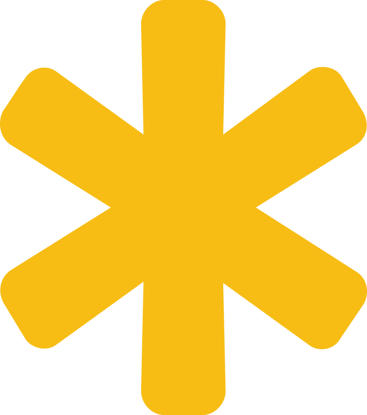 Yellow Asterisk 6