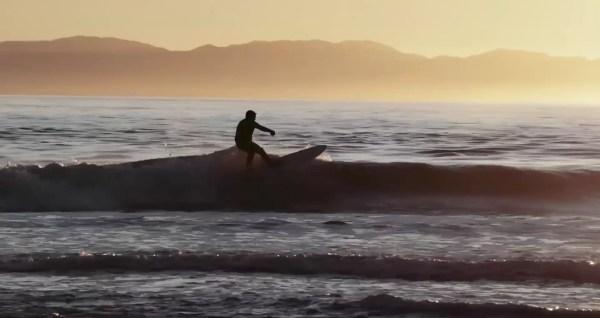 surfing sunset