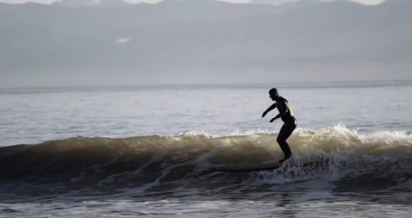 Surfer balanacing