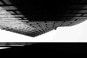 Looking up a highrise
