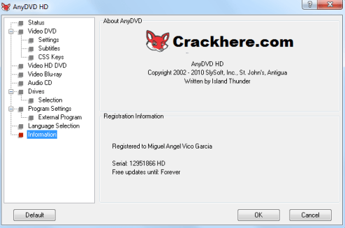 Redfox AnyDVD Crack 8.1.9.0 With Patch License