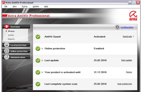 Avira Antivirus Pro License key 15.0.31.27