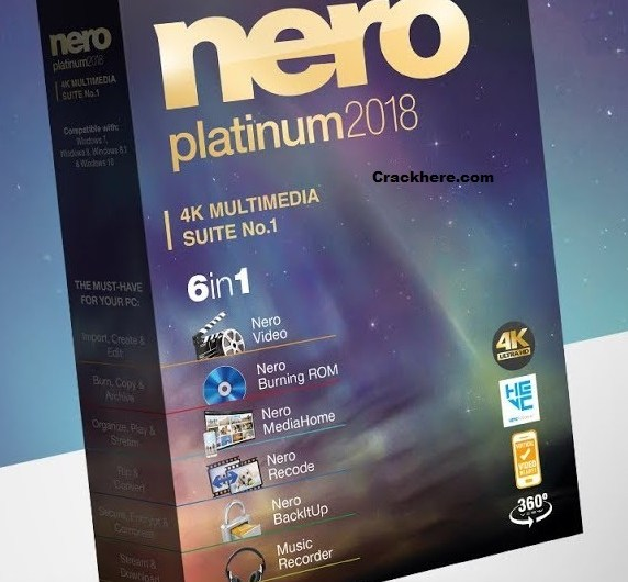Nero 2018 1.11.0.31 Crack Platinum Keygen Free Download