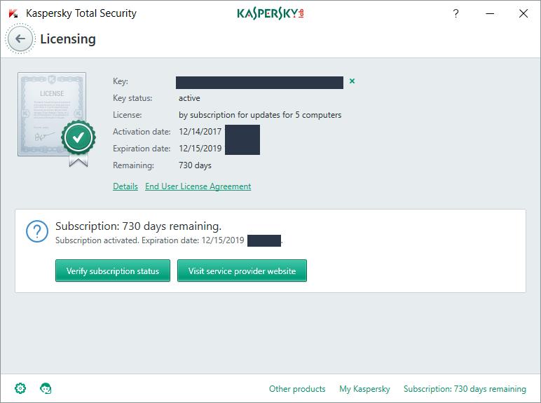kaspersky internet security 2019 activator