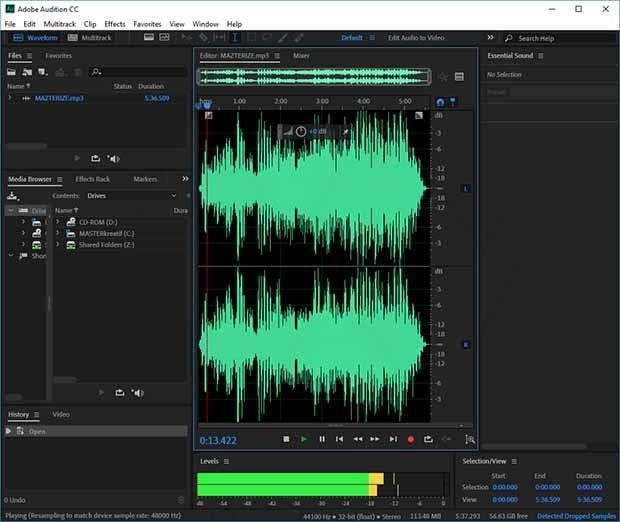 Adobe Audition CC 2019 12.1.0.180 Crack With Registration Key