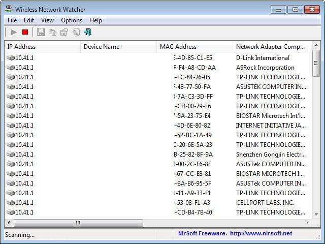Wireless Network Watcher 2.01