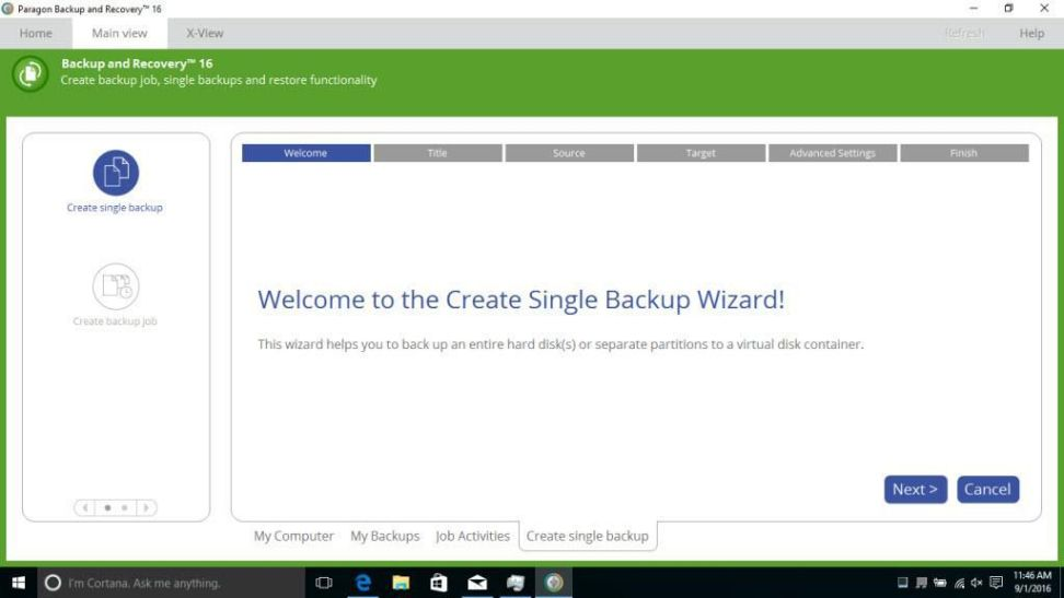 Paragon Backup and Recovery 16 Home 10.1.28.101