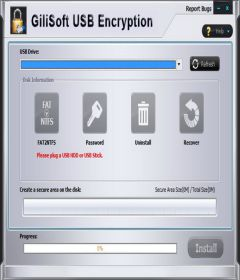 GiliSoft USB Stick Encryption 10.0 + keygen