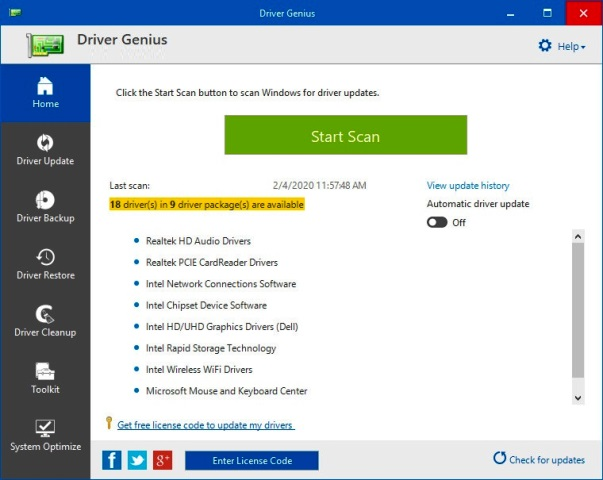 Driver Genius Pro 20.0.0.139 Crack With License Key [Latest]