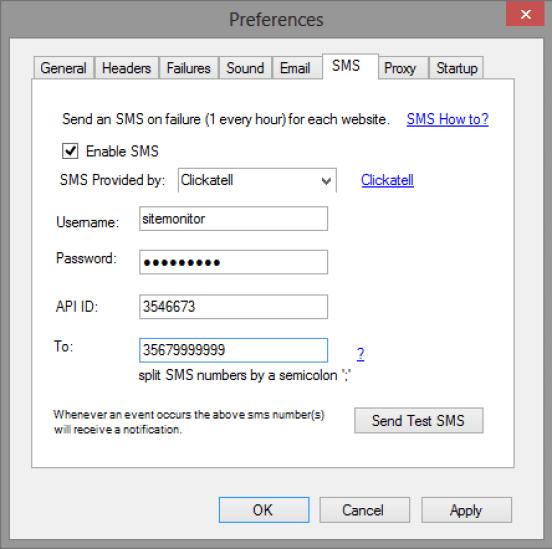 SiteMonitor Key