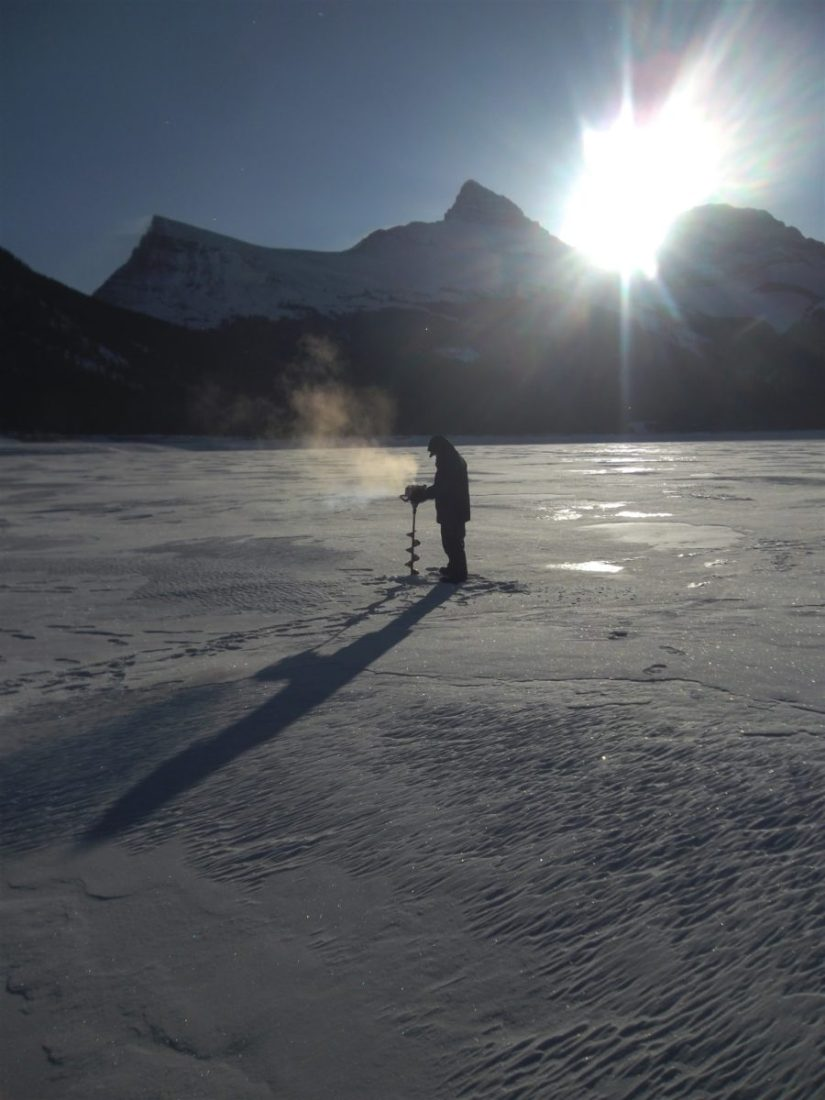 Ice Fishing Spray Lakes Reservoir