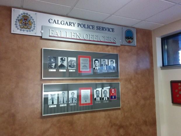 Calgary Police Fallen Wall