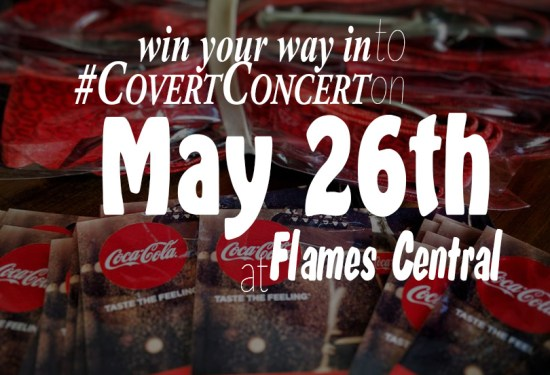 Covert Concert 2016 at Flames Central: win your way in! (ENDED)