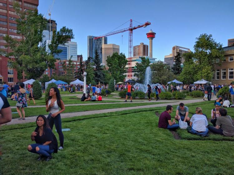 Calgary Night Market Park