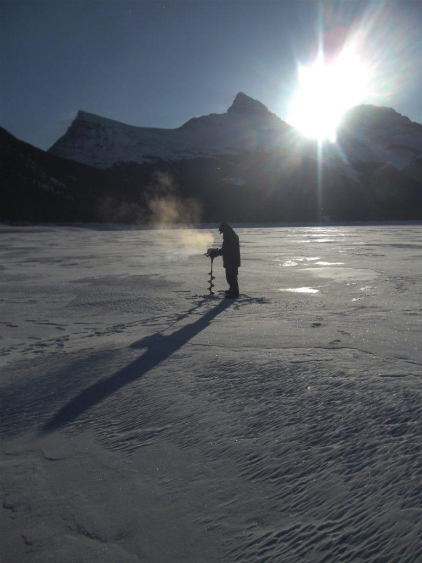 Fishing Around Calgary, Ice Fishing Spray Lakes