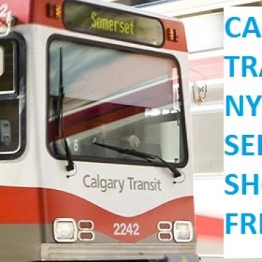 Calgary Transit NYE Service Should Be Free