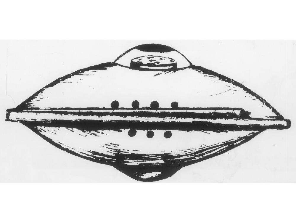 Haunted Places in Calgary UFO drawing