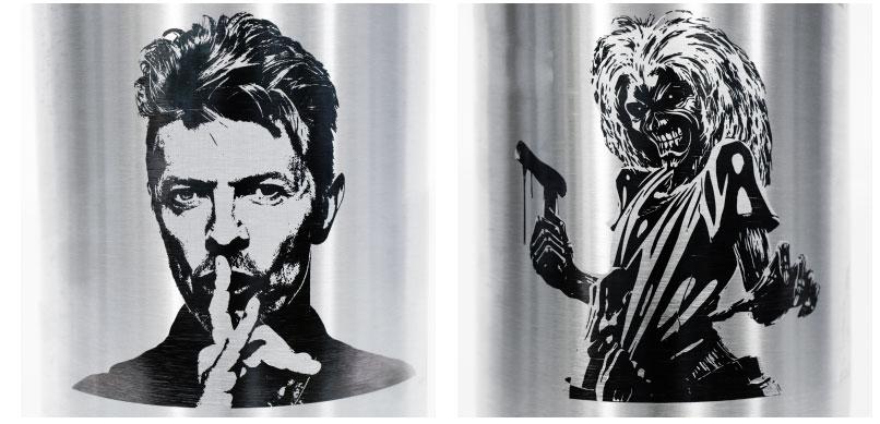 CanKeg laser designs David Bowie