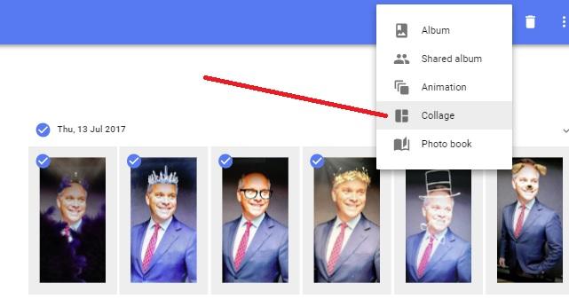 Google Photos collage scott fee