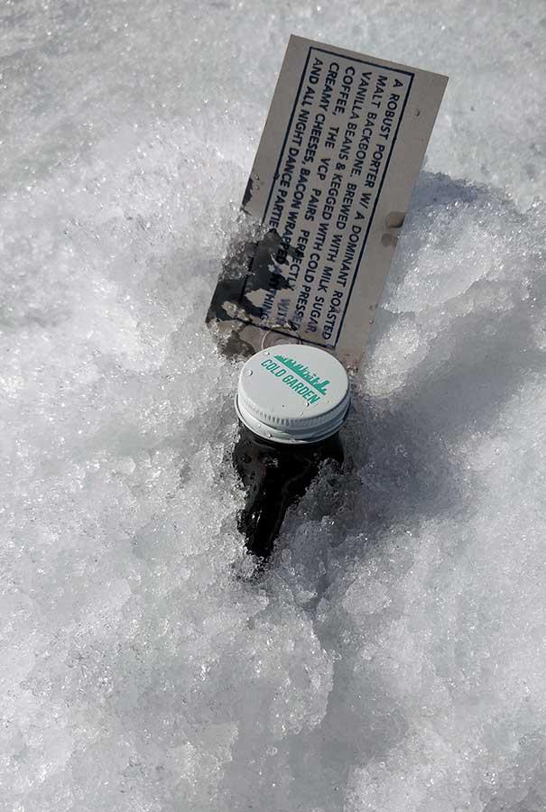 Ice Fishing Growler Cold Garden Beer
