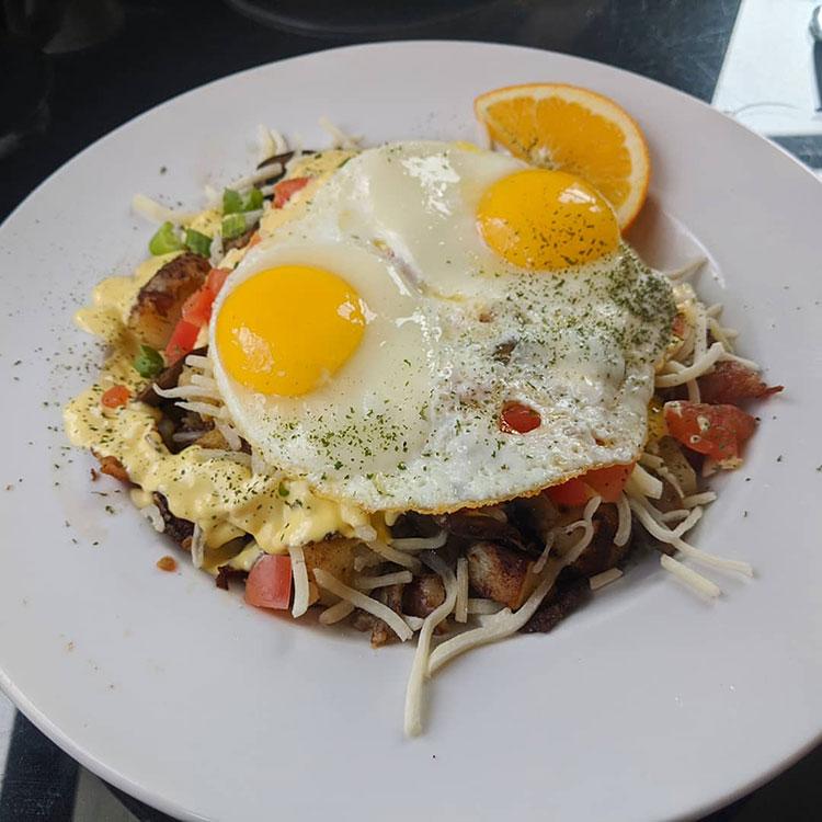1886 Buffalo Cafe Havaros Rancheros Eggs and cheese