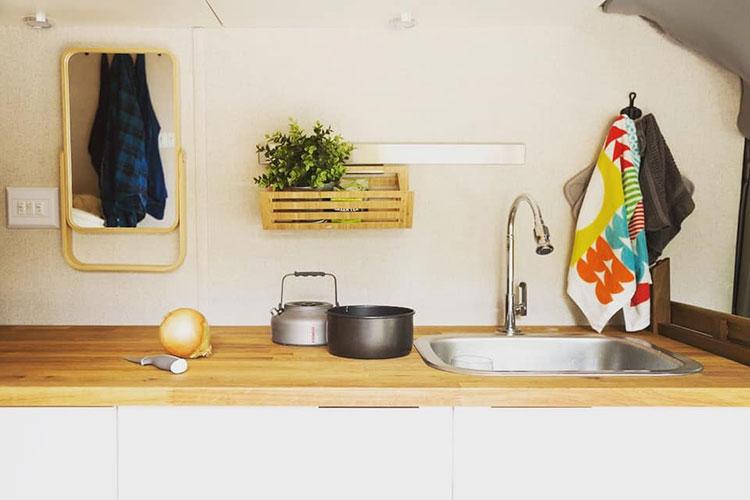 Karma Campervans inside Kitchen