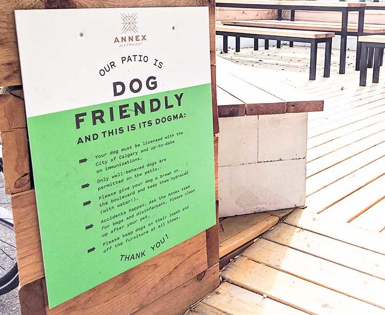 Dog friendly patios in calgary Annex