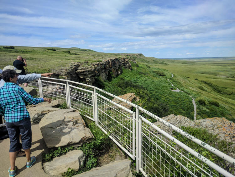 Head-Smashed-In Buffalo Jump View