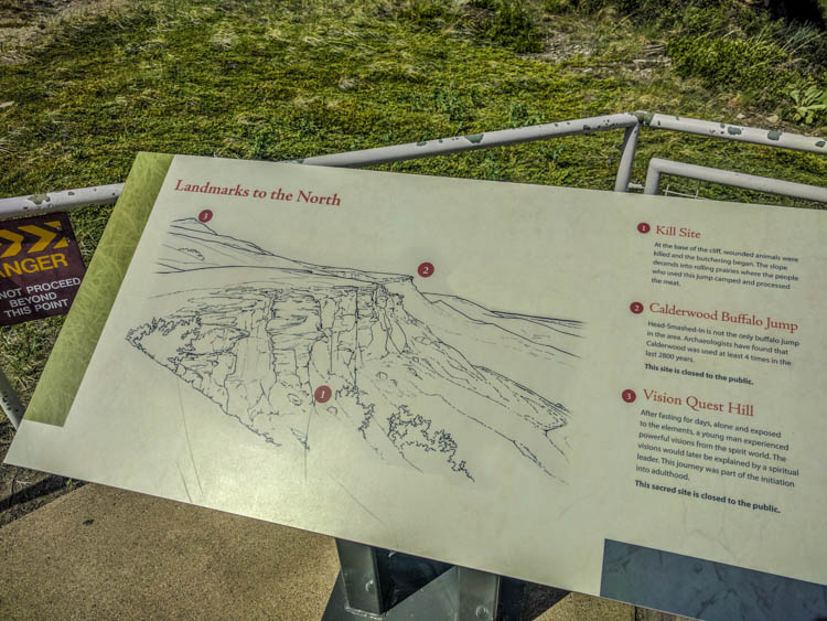 Head-Smashed-In Buffalo Jump Legend Kill site Calderwood