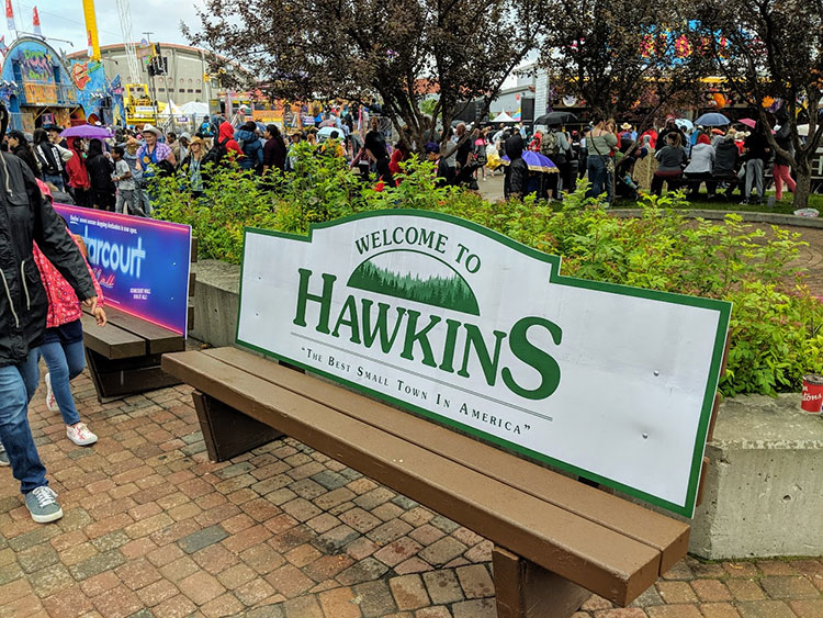 Stranger Things Calgary Stampede Hawkins Bench