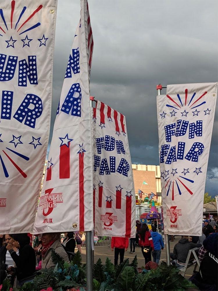 Stranger Things Calgary Stampede Fun Fair Banners