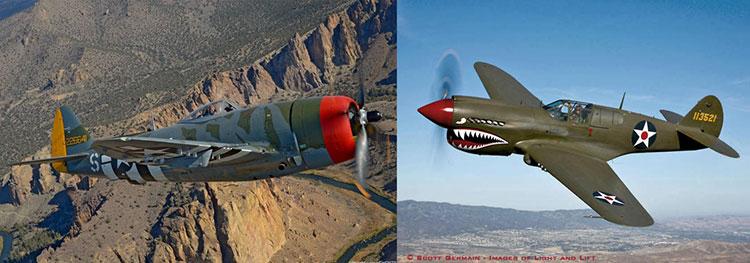 Wings Over Springbank Airshow Thunderbolt Kittyhawk
